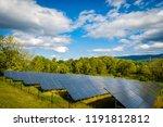solar panels absorbing the suns ... | Shutterstock . vector #1191812812