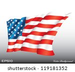 waving american us flag vector... | Shutterstock .eps vector #119181352
