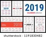 calendar 2019. english vector... | Shutterstock .eps vector #1191830482