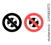 cd or dvd disk ban  prohibition ...