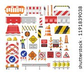 road sign vector traffic street ... | Shutterstock .eps vector #1191839038