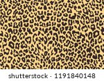 Stock vector leopard seamless pattern animal print vector background 1191840148