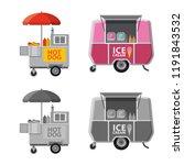 vector design of market and... | Shutterstock .eps vector #1191843532