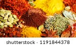 spices. various indian spices... | Shutterstock . vector #1191844378