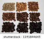 9 degrees of roasting coffee...   Shutterstock . vector #1191844645