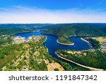 rursee lake  eifel  germany | Shutterstock . vector #1191847342