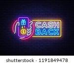 cash back sign design template. ... | Shutterstock . vector #1191849478