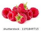 ripe raspberry. raspberries... | Shutterstock . vector #1191849715