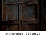 Old vintage door - stock photo
