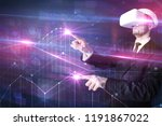 businessman with virtual... | Shutterstock . vector #1191867022