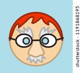 emoji with ginger man that is...   Shutterstock .eps vector #1191868195