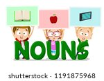 nouns in english language... | Shutterstock .eps vector #1191875968
