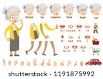 elderly woman in yellow blouse... | Shutterstock .eps vector #1191875992