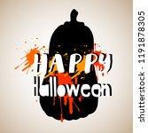 halloween. vector pumpkin.... | Shutterstock .eps vector #1191878305