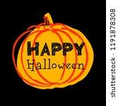 halloween. vector pumpkin.... | Shutterstock .eps vector #1191878308