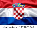 croatia stylish waving and... | Shutterstock . vector #1191881065
