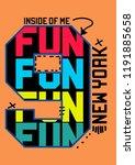 new york fun t shirt design... | Shutterstock .eps vector #1191885658