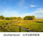 beautiful landscape of a blue... | Shutterstock . vector #1191885808