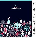 christmas background  winter... | Shutterstock .eps vector #1191887182