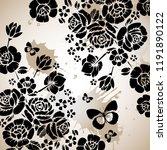vector beautiful roses... | Shutterstock .eps vector #1191890122