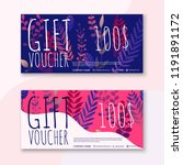 voucher template with color... | Shutterstock .eps vector #1191891172