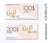 voucher template with color... | Shutterstock .eps vector #1191891175