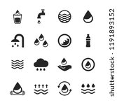 water icons set isolated on... | Shutterstock .eps vector #1191893152