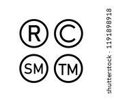 registered trademark  copyright ... | Shutterstock .eps vector #1191898918
