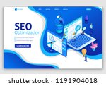 website template design seo... | Shutterstock .eps vector #1191904018