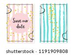 bridal shower card with dots... | Shutterstock .eps vector #1191909808
