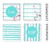 wedding stripes with glitter... | Shutterstock .eps vector #1191909925