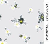 seamless floral pattern....   Shutterstock .eps vector #1191923725
