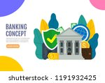 business web banner. banking... | Shutterstock .eps vector #1191932425
