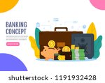 banking concept illustration.... | Shutterstock .eps vector #1191932428
