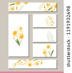 daffodil set with visitcards... | Shutterstock .eps vector #1191932698