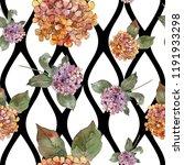 watercolor colorful gortenzia... | Shutterstock . vector #1191933298