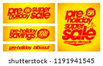 pre holiday super sale banners... | Shutterstock .eps vector #1191941545