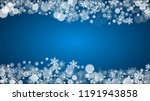 new year snow on blue... | Shutterstock .eps vector #1191943858