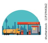 gas fuel station | Shutterstock .eps vector #1191944362