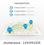 location icon map. road... | Shutterstock .eps vector #1191951535