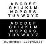 modern alphabet overlap... | Shutterstock .eps vector #1191952885