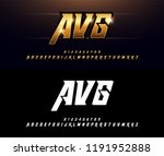 alphabet gold metallic and... | Shutterstock .eps vector #1191952888