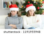 angry roommates or sisters in... | Shutterstock . vector #1191955948