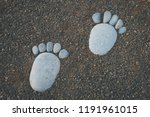 Feet  Footsteps Made Of Stones...