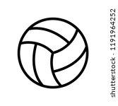 volleyball icon vector logo...   Shutterstock .eps vector #1191964252