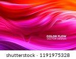 modern colorful flow poster.... | Shutterstock .eps vector #1191975328