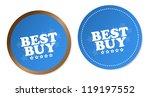 best buy stickers | Shutterstock . vector #119197552