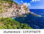 manarola village cinque terre... | Shutterstock . vector #1191976075