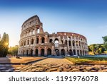 rome  italy. the colosseum or... | Shutterstock . vector #1191976078