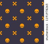 pattern with skull and bones ...   Shutterstock .eps vector #1191978265